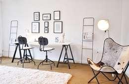scandinavian Study/office by Nicole Schütz Home Staging