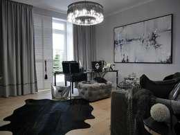 New York Glamour: styl , w kategorii Salon zaprojektowany przez CAROLINE'S DESIGN