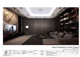 Home theater & Living room:   by บริษัท ดิปเปอร์ อาร์คิเทค ดีไซน์ จำกัด