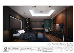 Master bed room:   by บริษัท ดิปเปอร์ อาร์คิเทค ดีไซน์ จำกัด