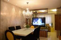 Área social Residência: Salas de jantar modernas por Danielle Barbosa DECOR|DESIGN