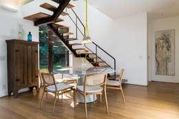 Casa Gávea: Corredores, halls e escadas modernos por Espaço Tania Chueke