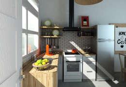 Render 3d Reforma Cocina.: Cocinas a medida  de estilo  por Dsg Arquitectura