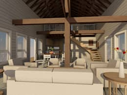 CASA UBERTI:  de estilo  por Kanda arquitectos