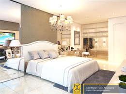 غرفة نوم تنفيذ Estúdio DG Arquitetura