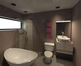 Baño principal: Baños de estilo  por CAXÁ studio
