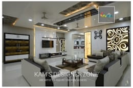 Living Room Design: classic Living room by KAM'S DESIGNER ZONE