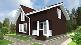 Projekty, skandynawskie Domy zaprojektowane przez ARTWAY центр профессиональных дизайнеров и строителей