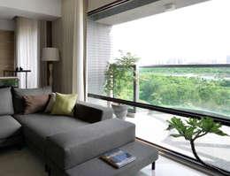 l 河岸邊邊 l:  客廳 by 賀澤室內設計 HOZO_interior_design
