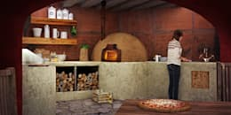 TERRAZA A-12: Cocinas de estilo rústico por LG STUDIO