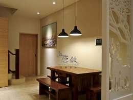 住宅|北歐鄉村混搭幸福居-高雄楠梓:  餐廳 by 鹿敘空間設計