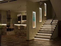 الممر والمدخل تنفيذ Студия интерьерного дизайна happy.design