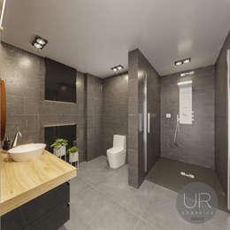Uğur RİCA İÇ MİMARLIK – Banyo Tasarımı / Bathroom: modern tarz Banyo