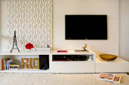 Salas / recibidores de estilo moderno por Priscila Boldrini Design e Arquitetura