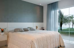 غرفة نوم تنفيذ Priscila Boldrini Design e Arquitetura