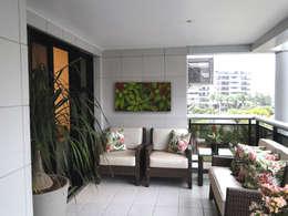 Apartamento Water Ways: Jardins modernos por Priscila Boldrini Design e Arquitetura
