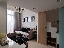 modern Living room by 大集國際室內裝修設計工程有限公司
