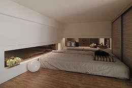 modern Bedroom by 大集國際室內裝修設計工程有限公司