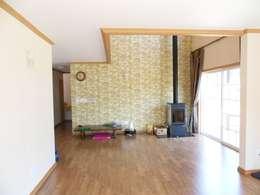 Гостиная в . Автор – Timber house