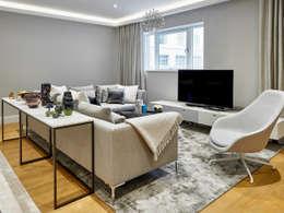 غرفة المعيشة تنفيذ Morph Interior Ltd