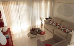 Salas de estilo moderno por Virna Carvalho Arquiteta
