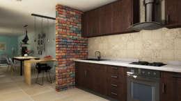 Cocina de estilo  por FRACTAL estudio + arquitectura