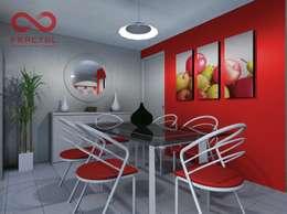 Comedor de estilo  por FRACTAL estudio + arquitectura