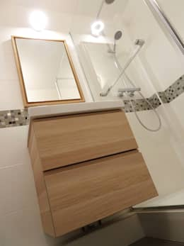Banheiros minimalistas por Sandrine Carré