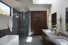 Glass Wall House: modern Bathroom by Klopf Architecture