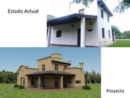 Proyecto de remodelación y ampliación de Vivienda unifamiliar:  de estilo  por Valy
