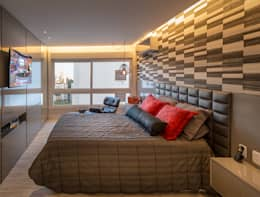 غرفة نوم تنفيذ Quadrilha Design Arquitetura
