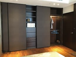 主臥衣櫃牆:  臥室 by 宗霖建築設計工程