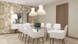Sala de Jantar: Salas de jantar modernas por 4Ponto7