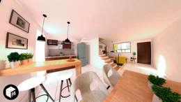 Cocina - Comedor : Comedores de estilo moderno por Polygon Arquitectura