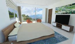 Habitación: Habitaciones de estilo moderno por Alejo Gallego /Diseño de espacios y visualización 3D