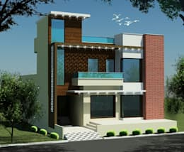 MR. VINOD GARG HOUSE AT FATEHABAD: modern Houses by Dream Homes Architect