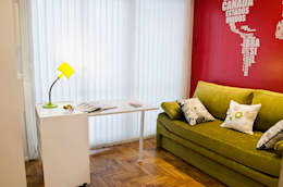 Millenials' Apartment: Estudios y oficinas de estilo moderno por Majo Barreña Diseño de Interiores