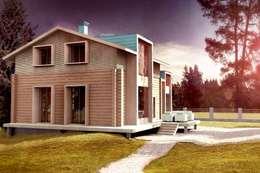 Дом в уровнях:  в . Автор – Snegiri Architects