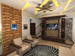 Deb Villa: modern Living room by Gurooji Design
