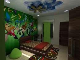 Deb Villa: modern Bedroom by Gurooji Design