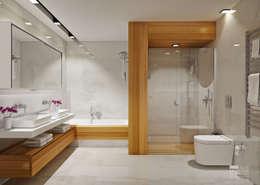 minimalistic Bathroom by ÖZHAN HAZIRLAR İÇ MİMARLIK