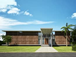 Key Biscayne : tropical Garden by Fernandez Architecture