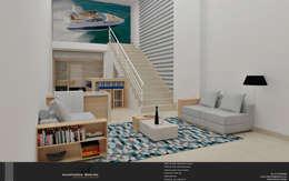 modern Study/office by Levolu Interiores e Arquitetura