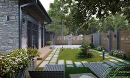 Casas de estilo minimalista por Компания архитекторов Латышевых 'Мечты сбываются'