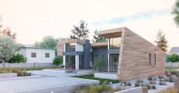 Casas de estilo moderno por Apriori Albero