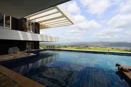 modern Pool by Studio K-7 Designs Pvt. Ltd