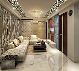 asian Living room by Design Consultant