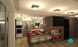 Cocina en Townhouse: Cocina de estilo  por Vanguardia Arquitectónica