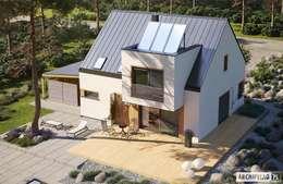 Projekt domu Neli W2 ENERGO PLUS - komfort na najwyższym poziomie : styl nowoczesne, w kategorii Domy zaprojektowany przez Pracownia Projektowa ARCHIPELAG