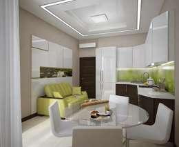 Гостиная - кухня: Гостиная в . Автор – Вира-АртСтрой